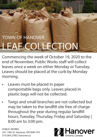 Town Of Hanover Leaf Collection