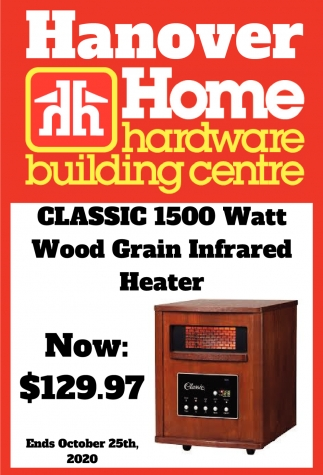 Classic 1500 Watt Wood Grain Infrared Heater