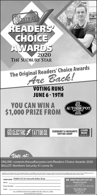 The Original Readers' Choice Awards are Back!