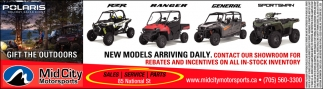 New Models Arriving Daily