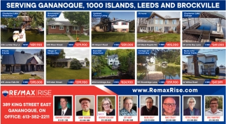 Serving Gananoque, 1000 Island, Leeds and Brockville