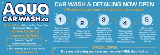 Car Wash & Detailing Now Open