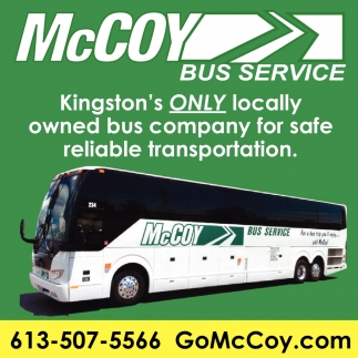 Kingston's Only Locally Owned Bus Company for Safe Reliable Transportation