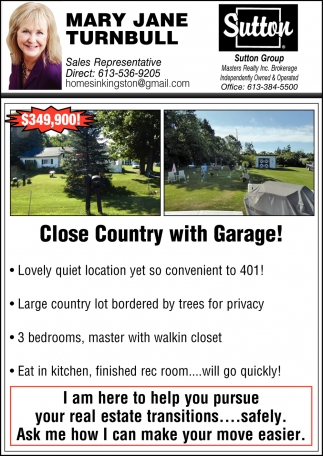 Close Country with Garage!