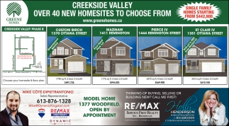 Creekside Valley Over 40 New Homesites to Choose From