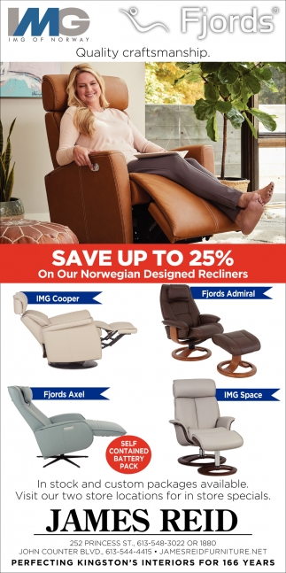 Save Up to 25% On Our Norwegian Designed Recliners