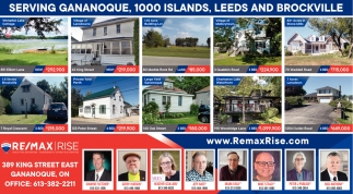 Serving Gananoque, 1000 Islands, Leeds and Brockville