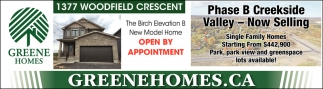Phase B Creekside Valley - Now Selling