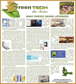 Basic Energy Saving Upgrades
