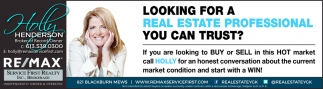 Looking for a Real Estate Professional You Can Trust?