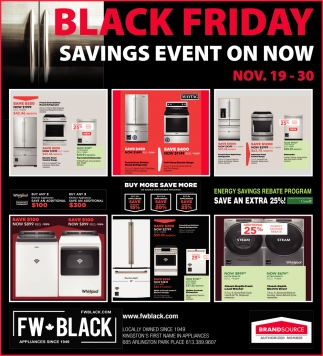 Black Friday Savings Event On Now