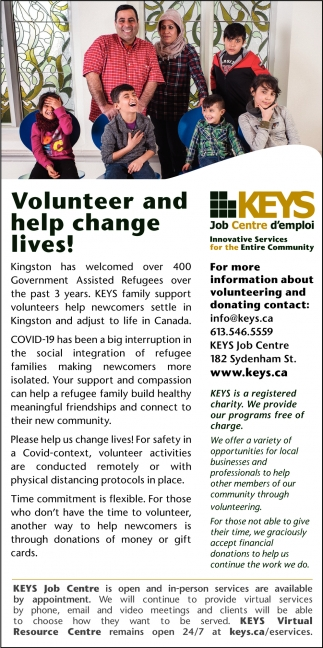 Volunteer and Help Change Lives!