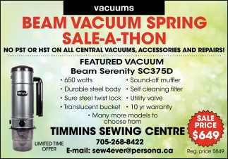 Beam Vacuum Fall Sale-A-Thon