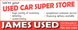 We're Your Used Car Super Store