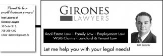 Let Me Help You with Your Legal Needs!