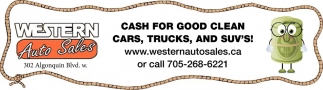 Cash for Good Clean Cars, Trucks, And Suv's!