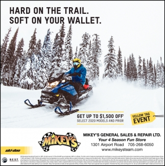 Hard On the Trail. Soft On Your Wallet