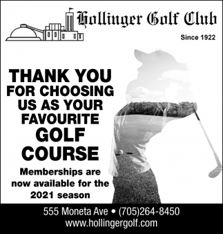 Thank You for Choosing Us As Your Favourite Golf Course