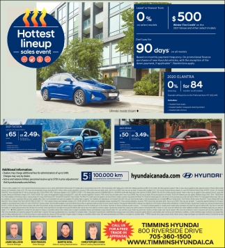 Hottest Lineup Sales Event