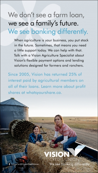 We Don't See A Farm Loan, We See A Family's Future.
