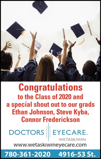 Congratulations To The Class Of 2020 And A Special Shout To Our Grads Ethan Johnson, Steve Kyba, Connor Frederickson