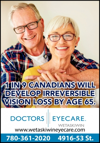1 In 9 Canadians Will Develop Irreversible Vision Loss By Age 65