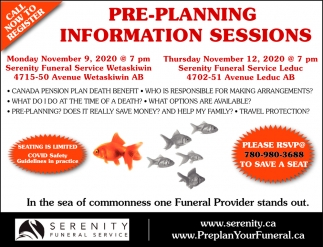 Pre-Planning Information Sessions