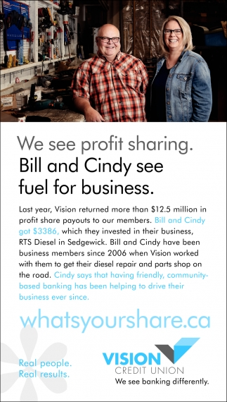 We See Profit Sharing. Bill And Cindy See Fuel For Business