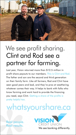 We See Profit Sharing. Clint And Rod See A Partner For Farming.