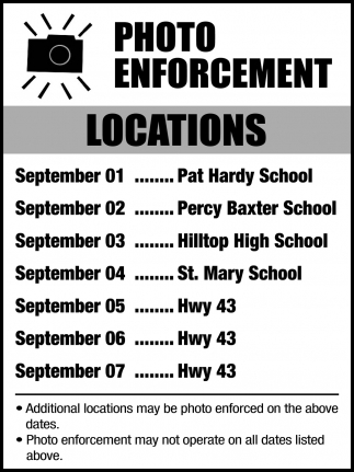 Photo Enforcement Locations