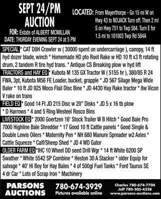 Sept 24/PM Auction