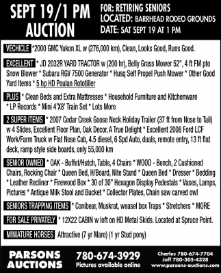 Sept 19/1 PM Auction