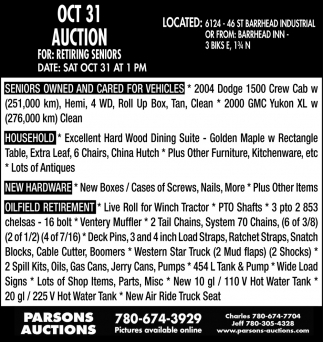 Oct 31 Auction