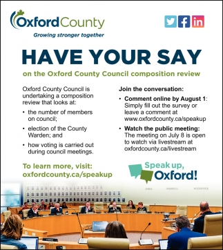 Have Your Say On The Oxford County Council Composition Review