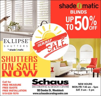 Shutters On Sale Now