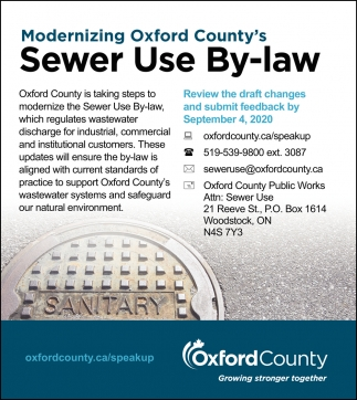 Modernizing Oxford County's Sewer Use By-Law