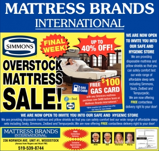 Overstock Mattress Sale!