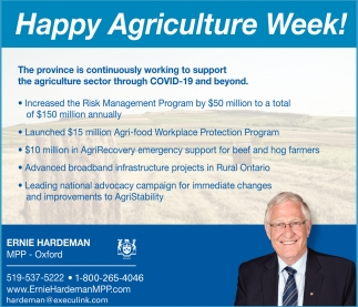Happy Agriculture Week!