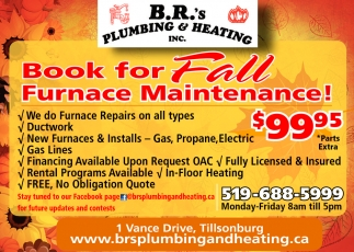 Book For Fall Furnace Maintenance