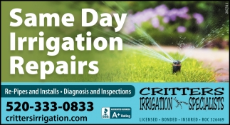 Same Day Irrigation Repairs