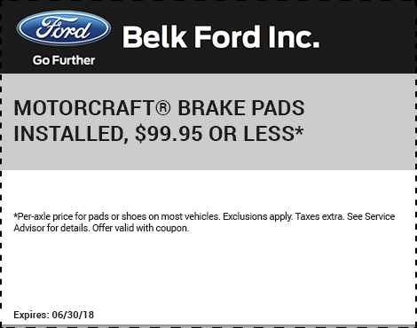 Motorcraft Brake Pads Installed
