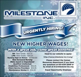 Urgently Hiring Milestone Inc