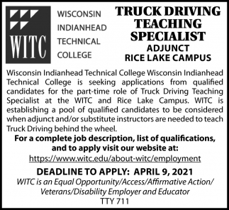 Truck Driving Teaching Specialist