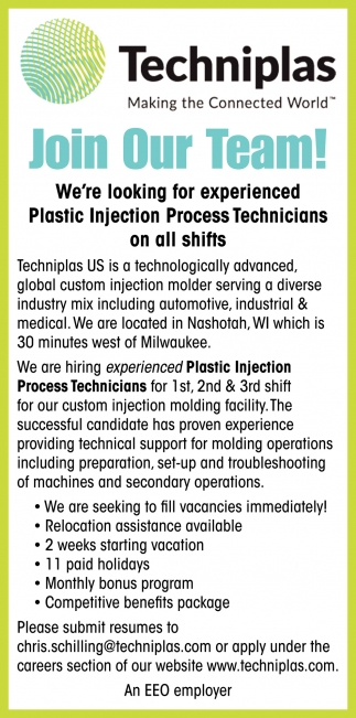 Plastic Injection Process Technicians