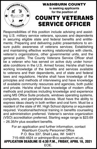County Veterans Service Officer