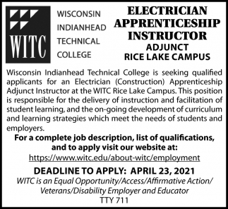 Electrician Apprenticeship Instructor