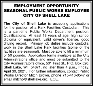 Seasonal Public Works Employee