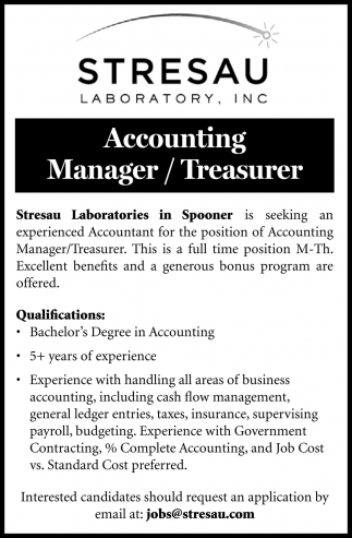Accounting Manager/Treasurer