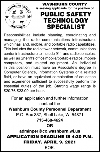 Public Safety Technology Specialist