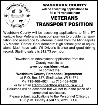 Veterans Transport Position